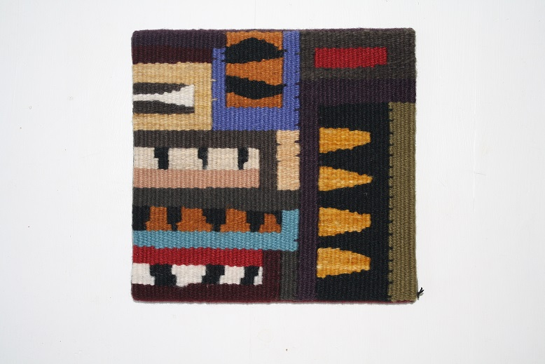 Woven tapestry using natural dyes